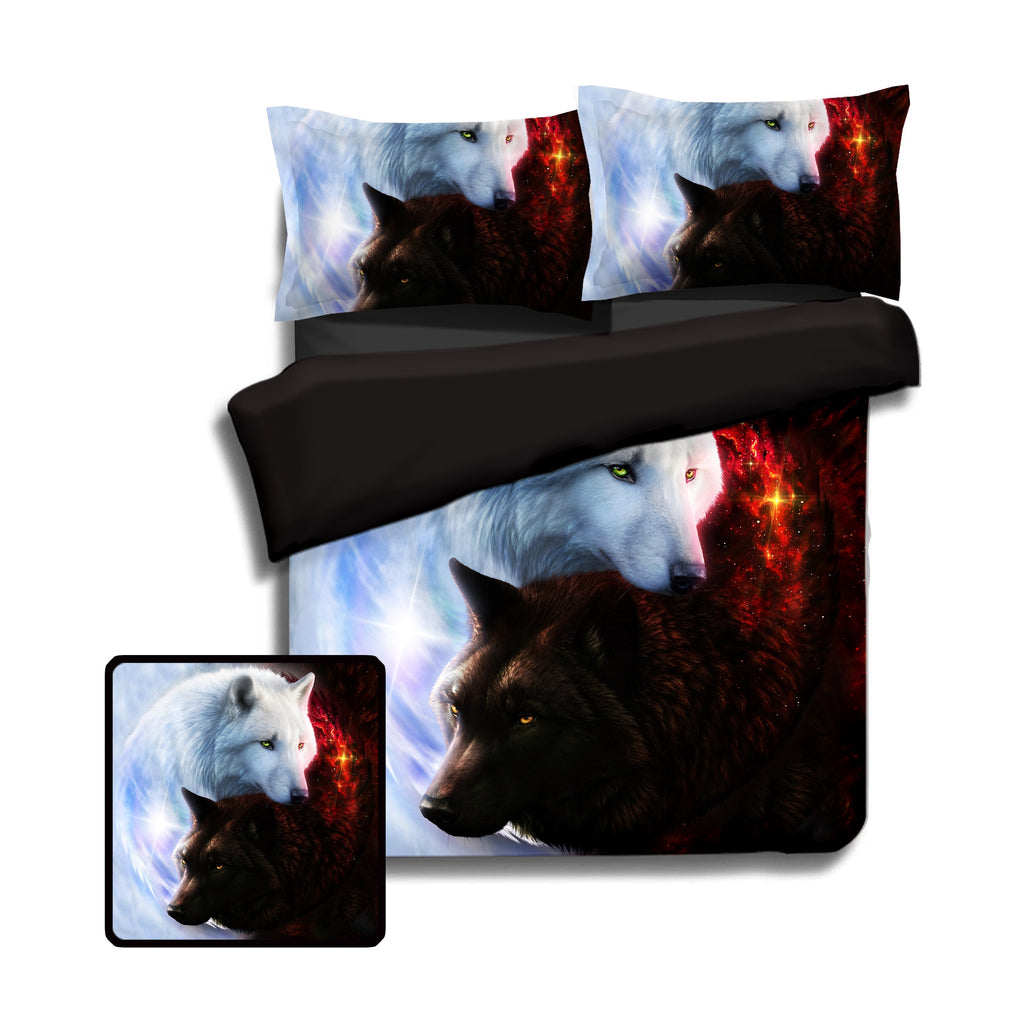 Yin Yang Fire Ice Wolves Bedding Set Beddings