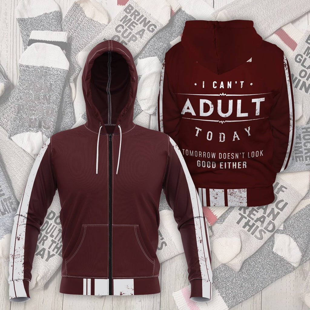 Cant Adult Today Unisex Zipped Hoodie S Zip