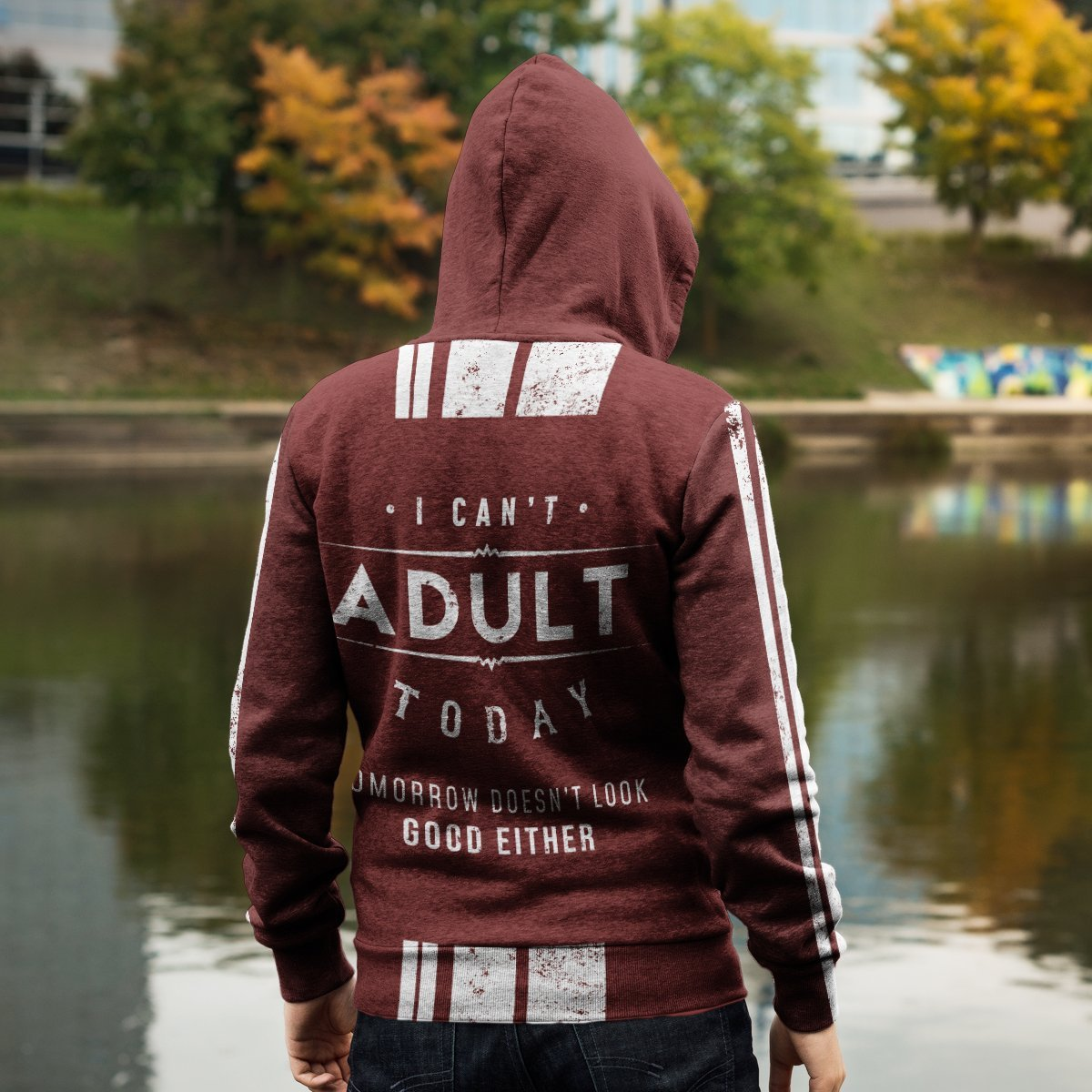 Cant Adult Today Unisex Zipped Hoodie Zip