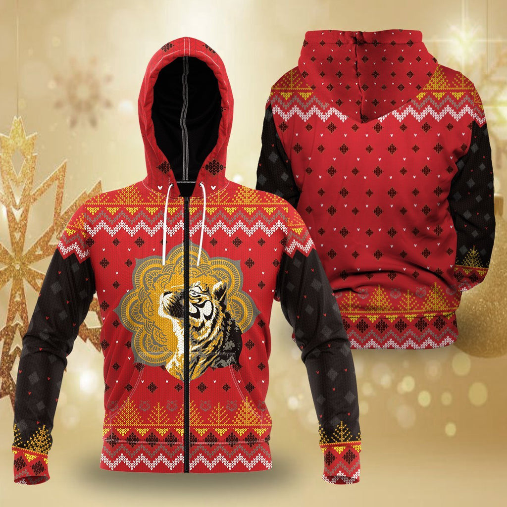 Enlightened Holidays Unisex Zipped Hoodie S Zip