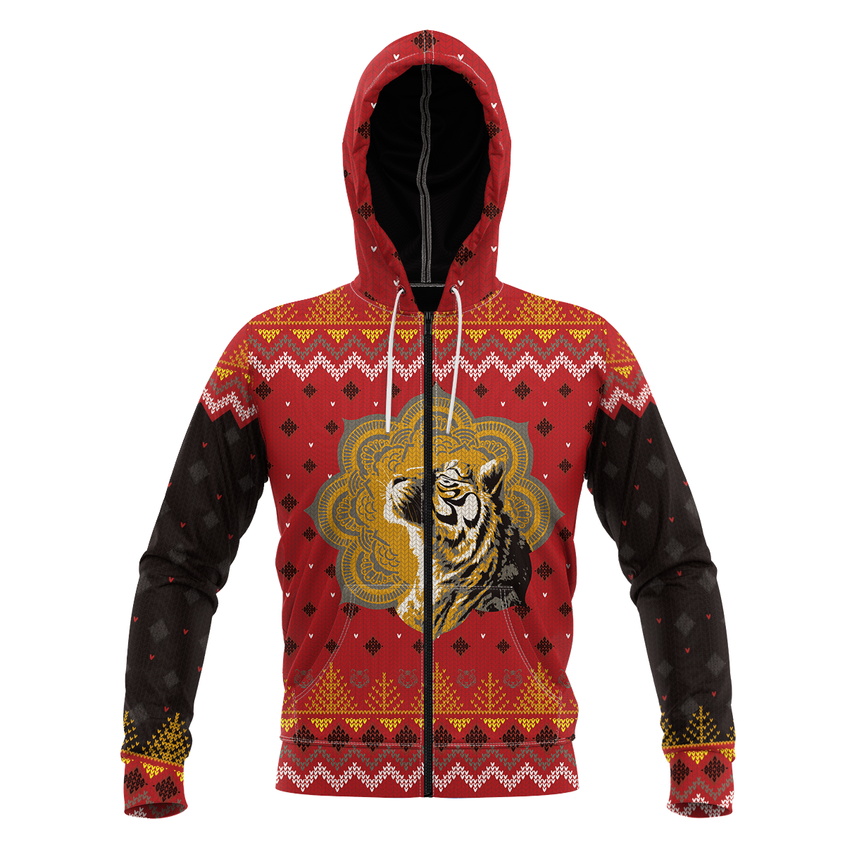 Enlightened Holidays Unisex Zipped Hoodie Zip