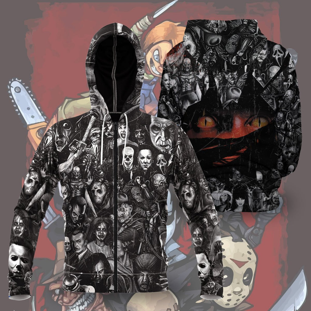 Nightmare Unisex Zipped Hoodie Zip