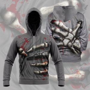 Skeleton Grip Unisex Zipped Hoodie S Zip