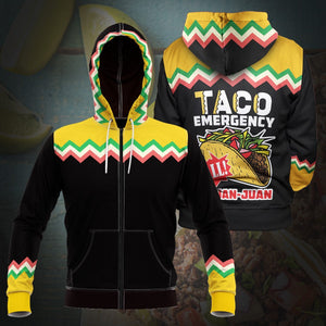 Taco Emergency Unisex Zipped Hoodie S Zip
