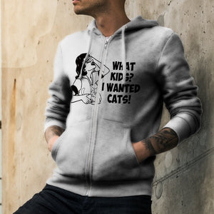 What Kids Cats Unisex Zipped Hoodie Zip