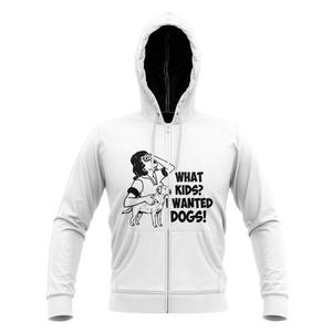 What Kids Dogs Unisex Zipped Hoodie Zip