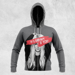 Its Britney B*tch! Unisex Zipped Hoodie S Zip