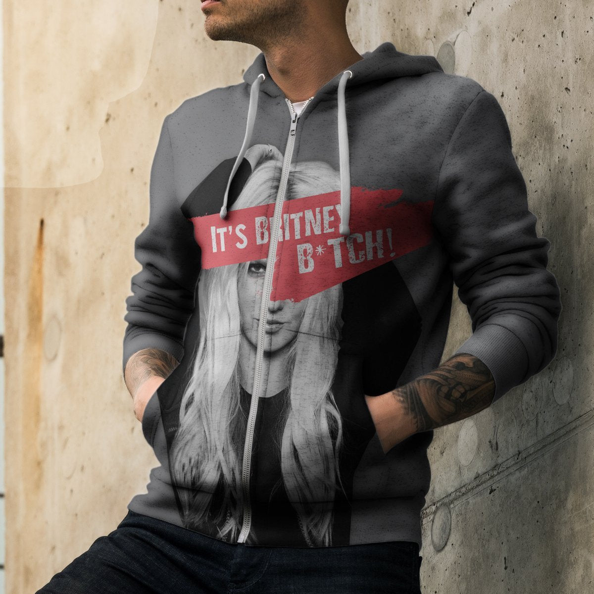 Its Britney B*tch! Unisex Zipped Hoodie Zip