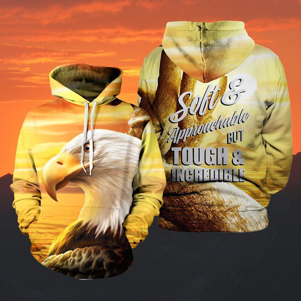 Soft And Tough Eagle Unisex Pullover Hoodie M
