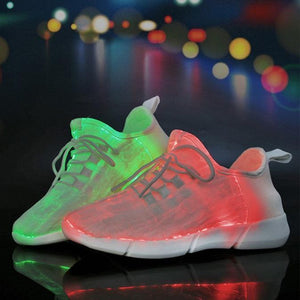 Luminous Fiber Optic Unisex Shoes