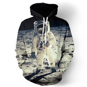 Astronaut In Space Unisex Pullover Hoodie M
