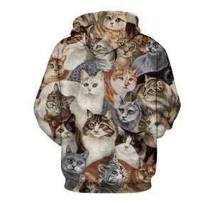 Cats Unisex Pullover Hoodie