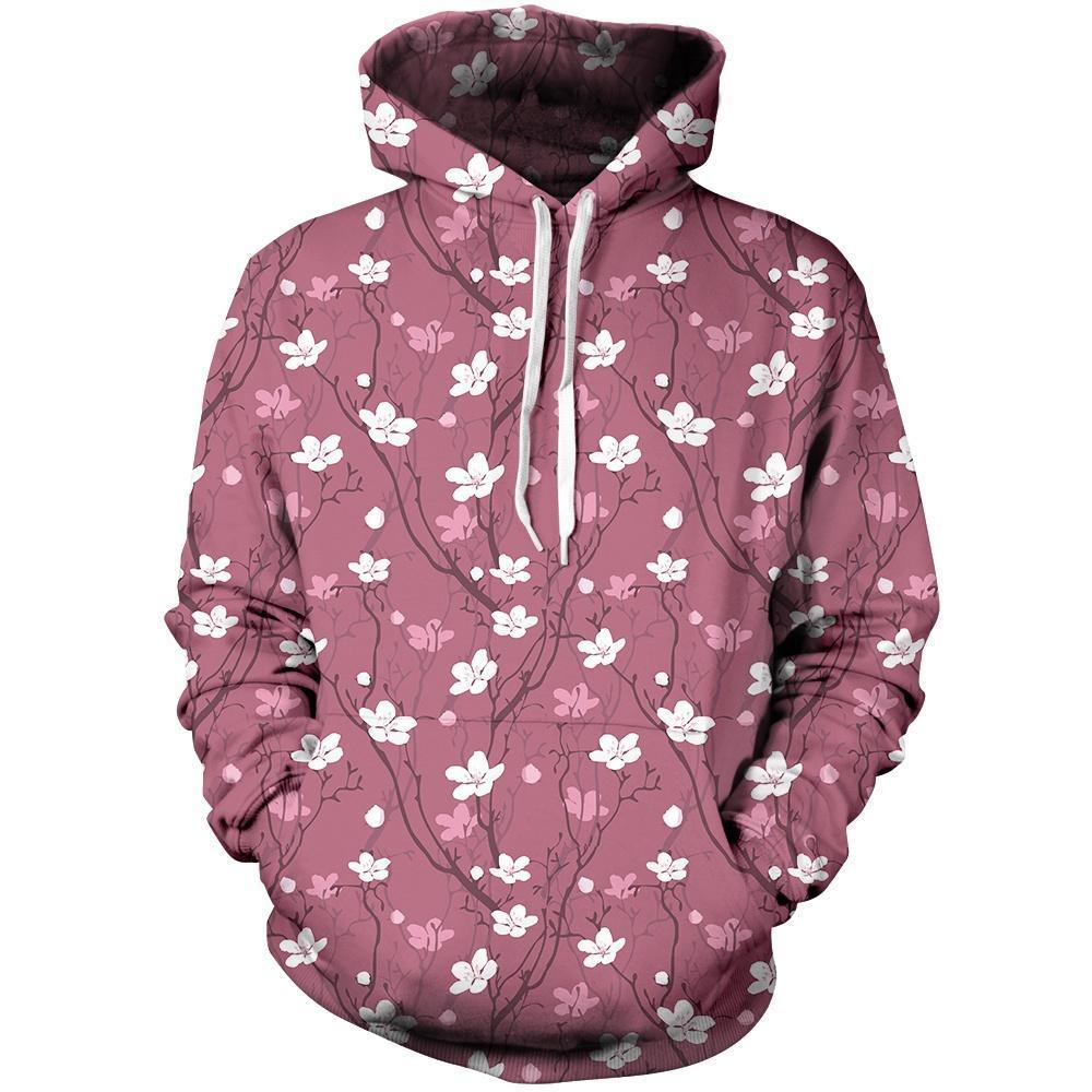 Cherry Blossoms Unisex Pullover Hoodie M
