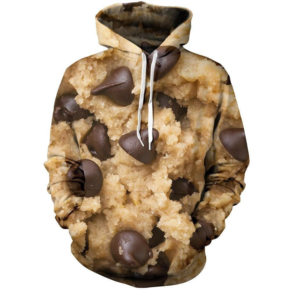 Chocolate Chip Cookie Unisex Pullover Hoodie M