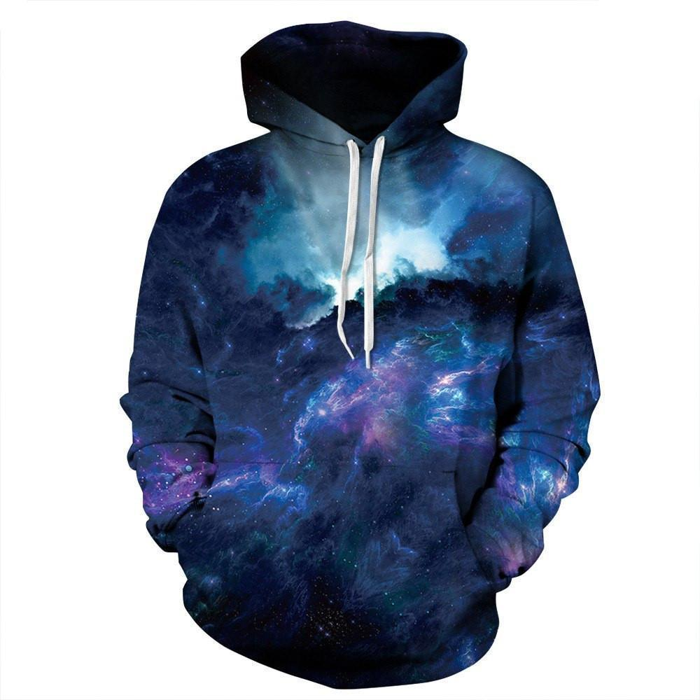 Dark Night Galaxy Unisex Pullover Hoodie M
