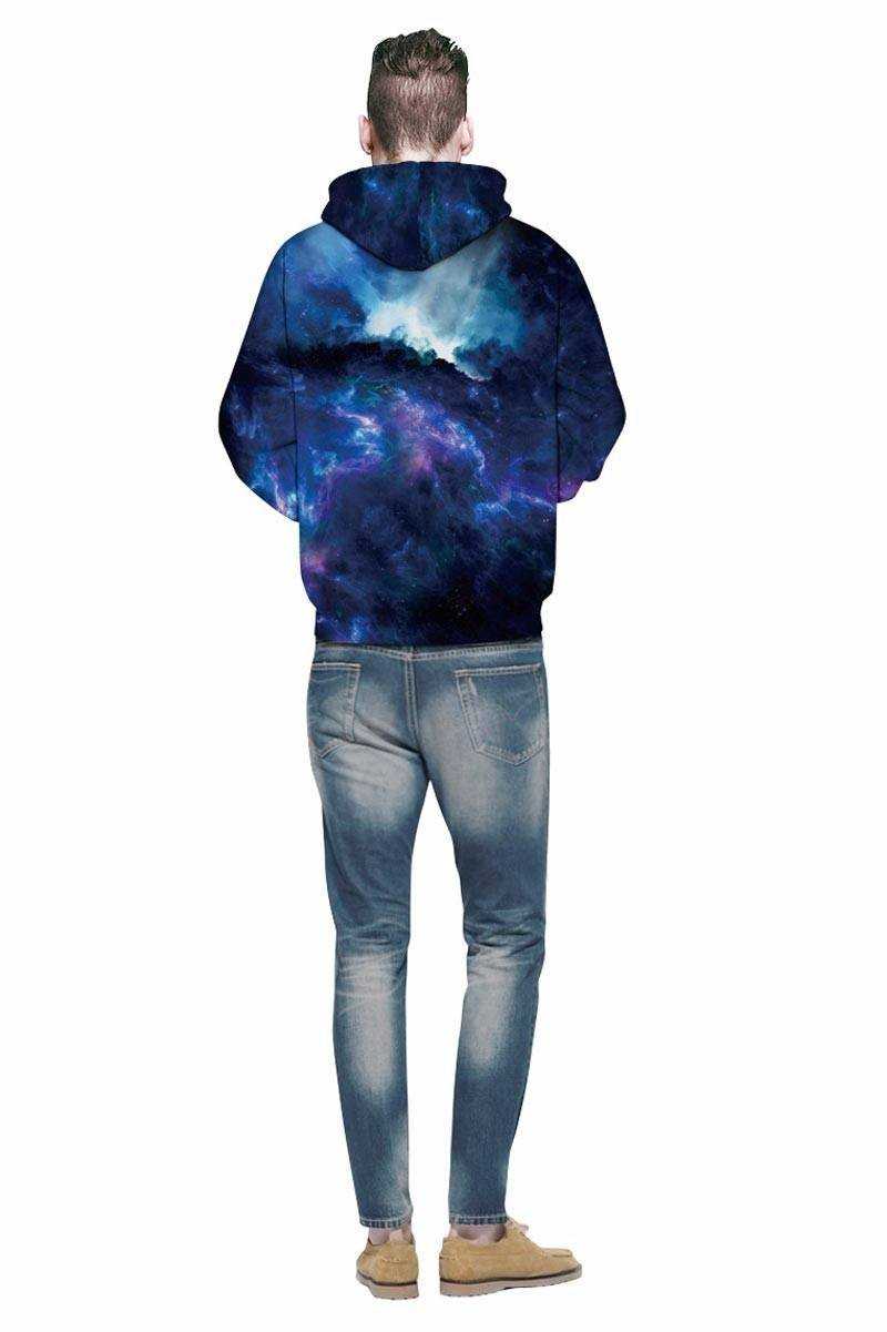 Dark Night Galaxy Unisex Pullover Hoodie