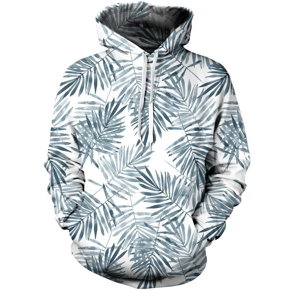 Palm Leaves Unisex Pullover Hoodie M
