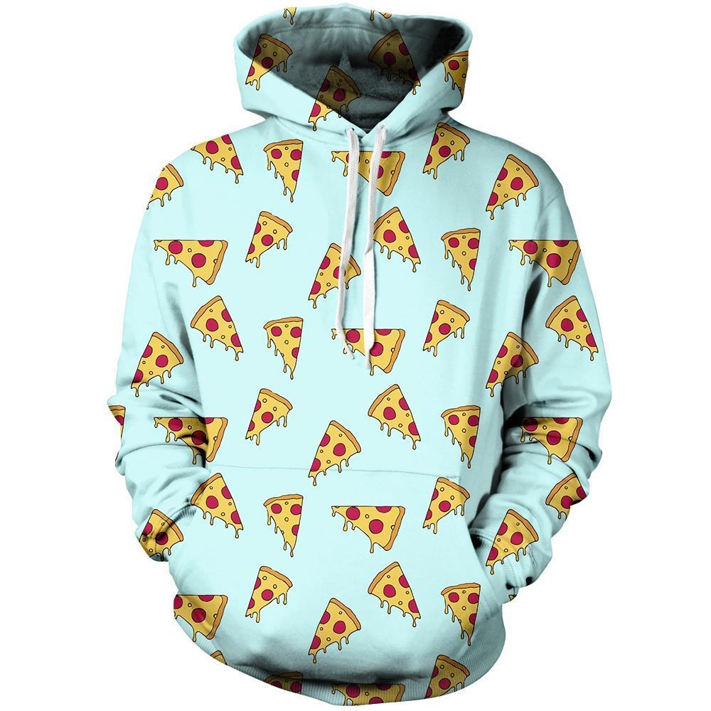Pizza Slices Unisex Pullover Hoodie M