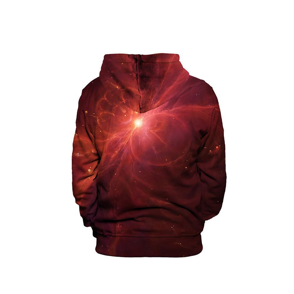 Red Nebula Unisex Pullover Hoodie
