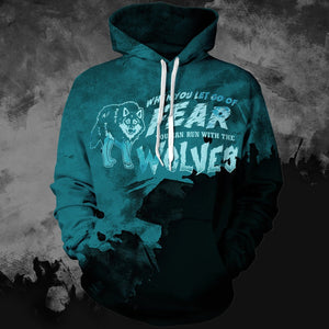 Let Go Of Fear Unisex Pullover Hoodie