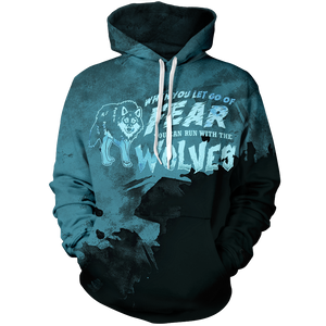 Let Go Of Fear Unisex Pullover Hoodie M