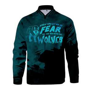 Let Go Of Fear Zipped Jacket