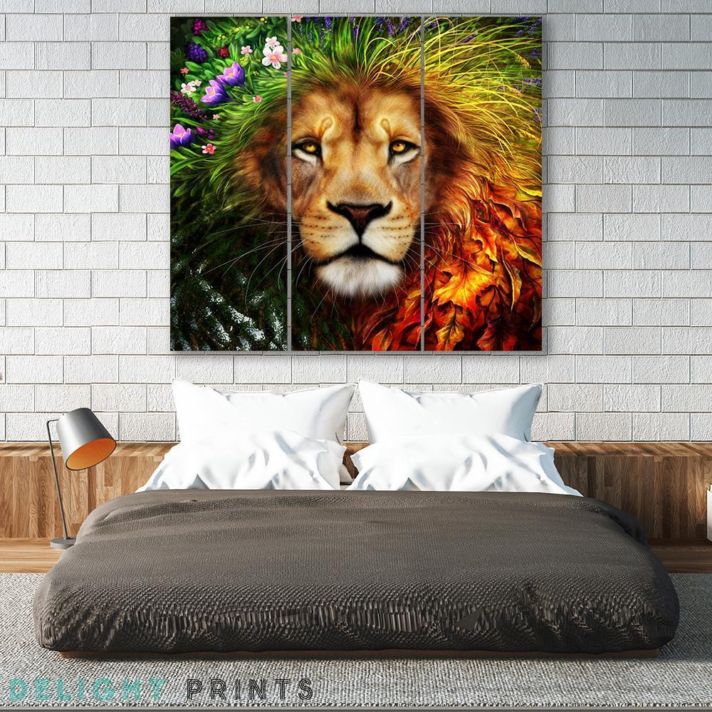 Spirit Of The Season 3 Piece Canvas Small / No Frame Wall