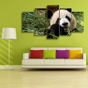 Baby Panda 5 Piece Canvas Small / No Frame Wall