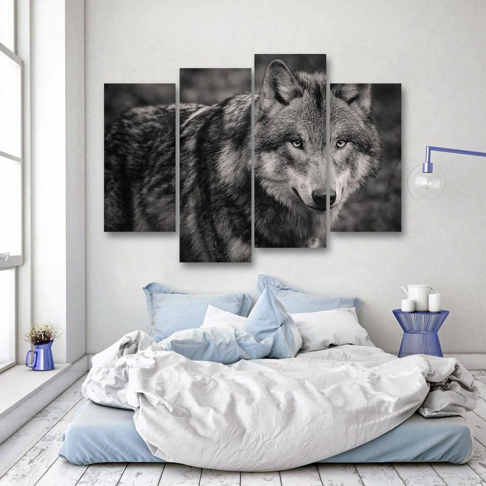 Big Bad Wolf 4 Piece Canvas Small / No Frame Wall