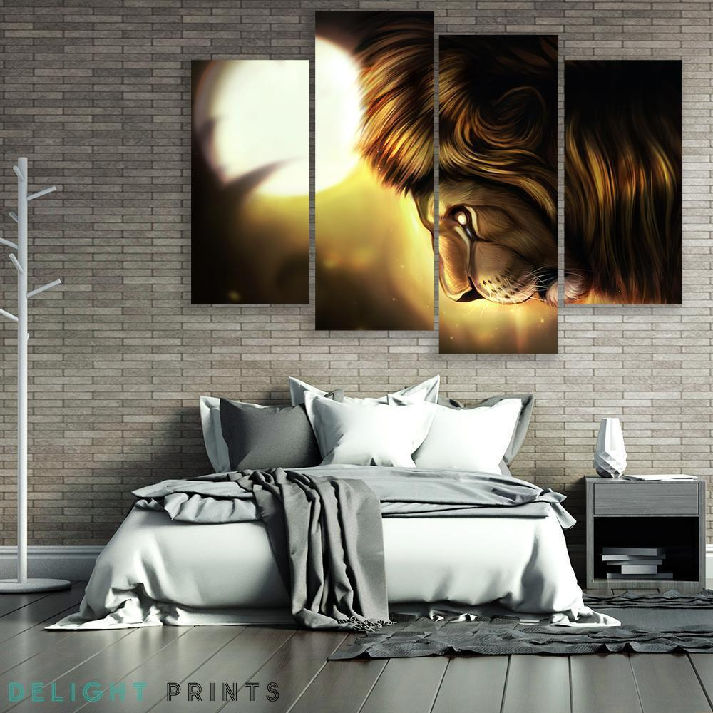 Crying Sun 4 Piece Canvas Small / No Frame Wall