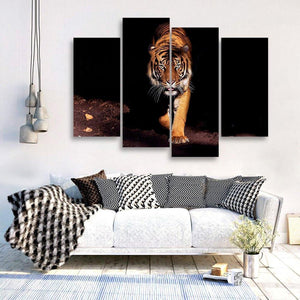 Eyes Of The Tiger 4 Piece Canvas Small / No Frame Wall