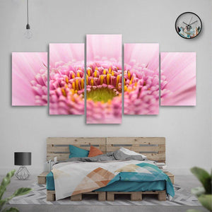 Gerbera 5 Piece Canvas Small / No Frame Wall