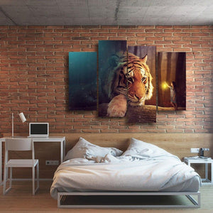 Giant Tiger 4 Piece Canvas Small / No Frame Wall