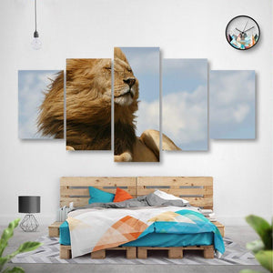 King Of The Jungle 5 Piece Canvas Small / No Frame Wall