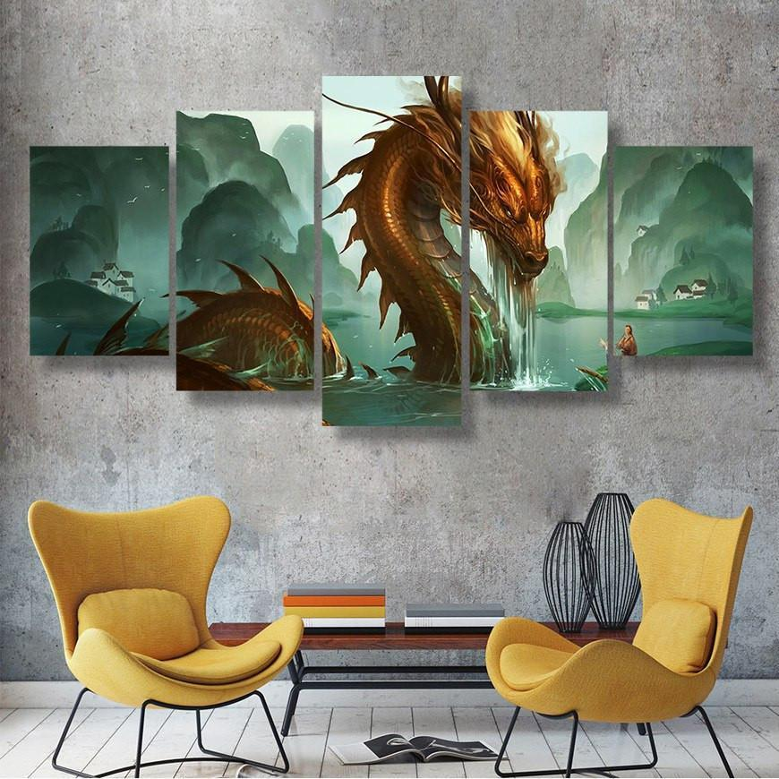 Limited Edition Sea Legend 5 Piece Canvas Small / No Frame Wall