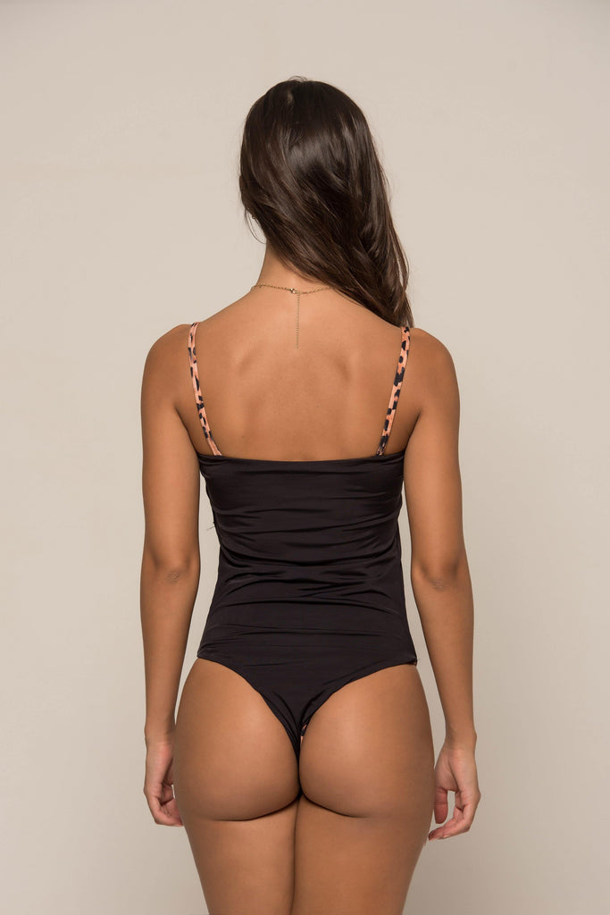 Body Alika Dupla-face Oncinha/Preto (Outlet)