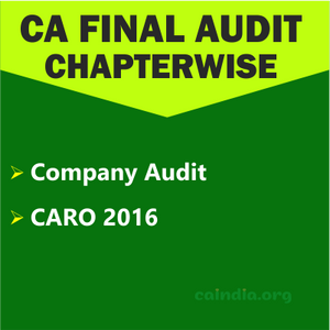 CA Final Audit_Category 4 (Regular Course)