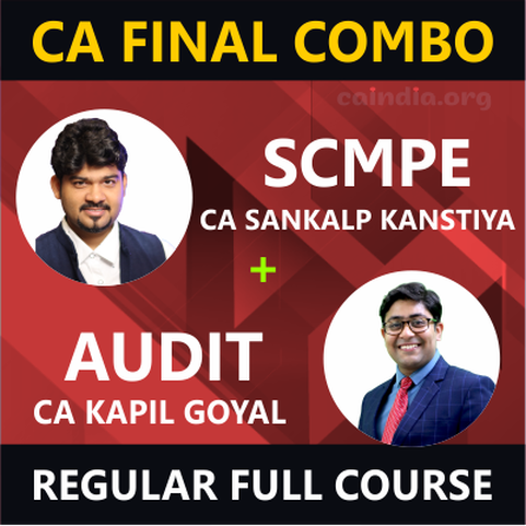 CA FINAL AUDIT & SCMPE_Reg. Course Combo (P3 & P6) Image