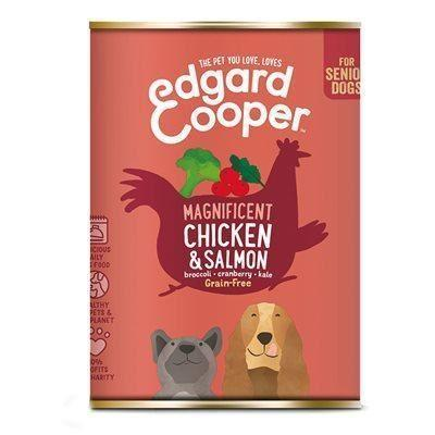 4 Healthy Pets - Edgard & Cooper  Chicken & Salmon With Broccoli & Pea 150g