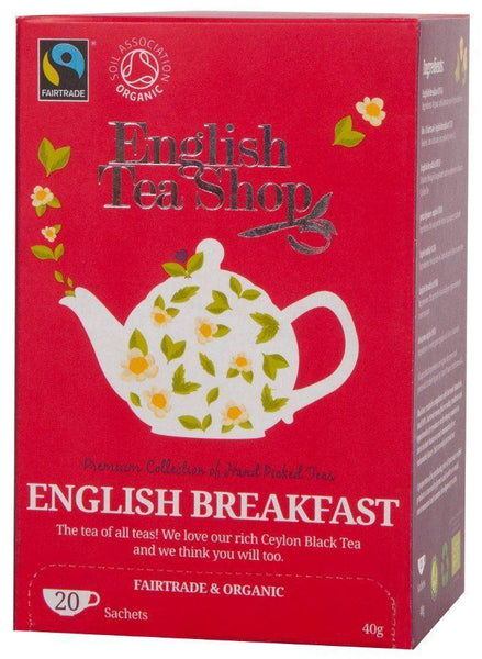 English Tea Shop (uk) Ltd - English Tea Shop  Organic Energise Me Pyramids 16 Bags
