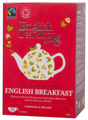 English Tea Shop (uk) Ltd - English Tea Shop  Organic English Breakfast Pyramids 16 Bags