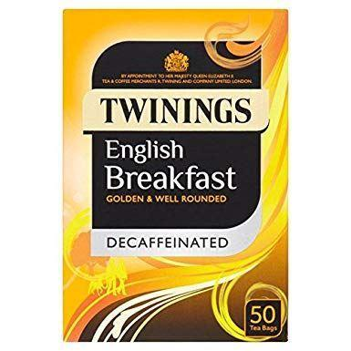 Shs Sales And Marketing   A - Twinings  Traditional English Tea - Decaffeinated 50 Bags