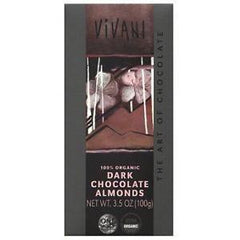 Vivani - Dark Almonds Chocolate 100g