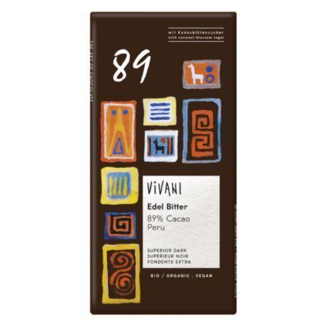 Vivani Organic Chocolate - Superior Dark 89% Chocolate 80g