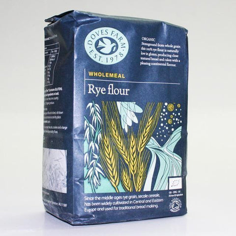 Doves Farm - Rye Flour Wholegrain Organic 1kg