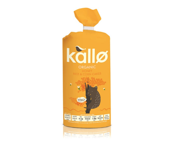 Kallo - Honey Jumbo Rice Cake 125g