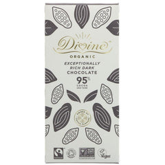 Divine Organic - 95% Dark Chocolate 80g
