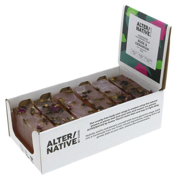 Alter/native By Suma - Glycerine Soap Rose & Geranium - 6 x 90g