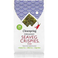 Clearspring Wholefoods - Organic Seaveg Crispies - Chilli - 16 x 4g