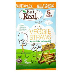 Eat Real - Kiddies Veggie Straws - 5pk Multipack - 8 x 100g